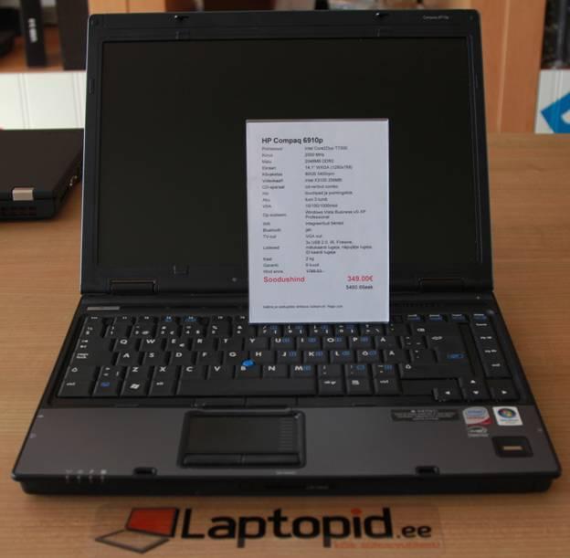 5b39d064f3a HP Compaq 6910p on arvatavasti Eestis enim müüdud äriklassi sülearvuti omal  ajal. Seda põhjusel, et just see arvuti läbis väga karmi  konkurentsi-kadalipu ...